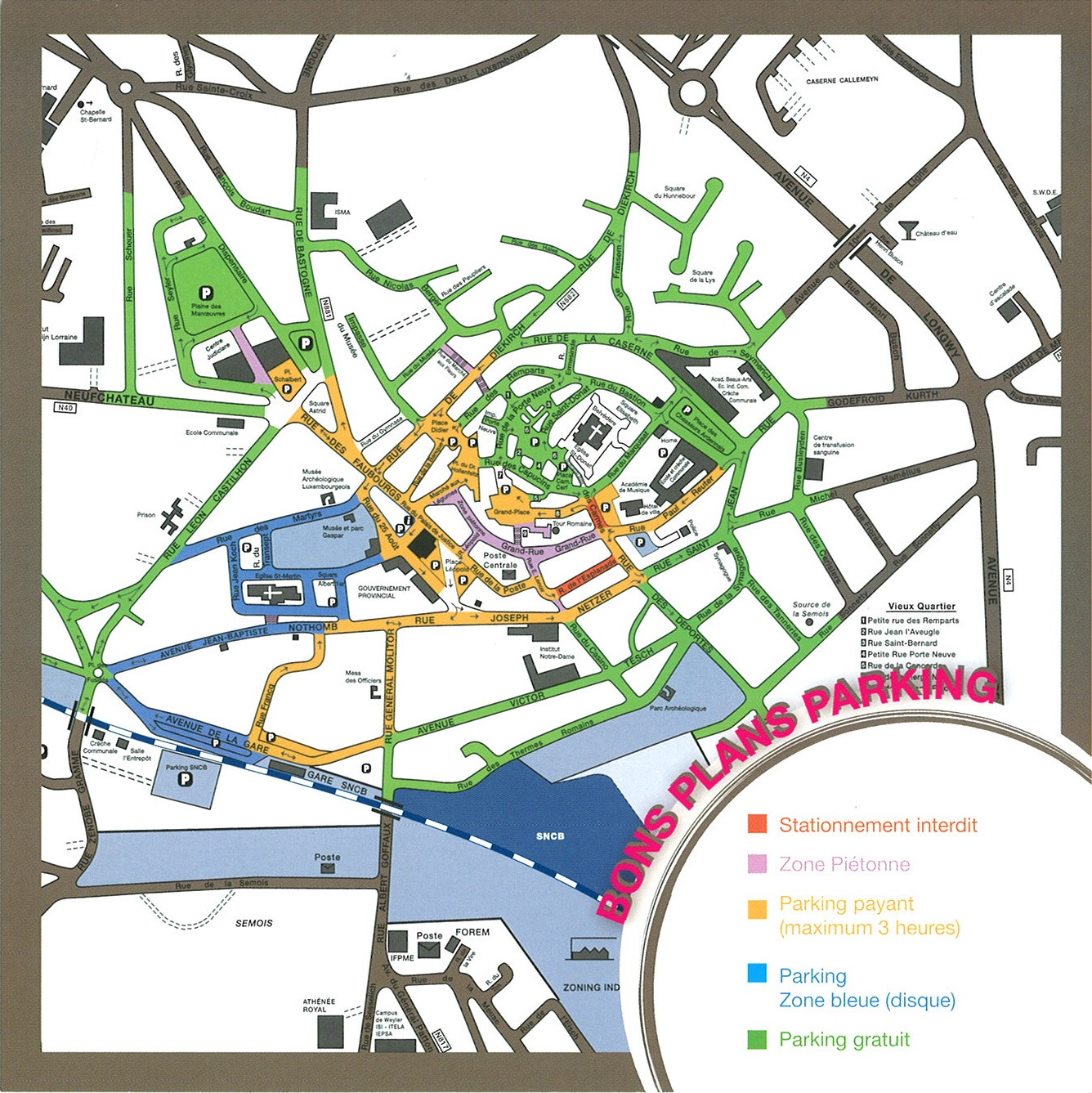 Plan Luxembourg Ville Parking
